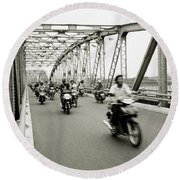 Trang Tien Bridge Round Beach Towel