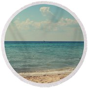 Tranquil Round Beach Towel