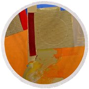 Transition 4 Red Crepe Round Beach Towel