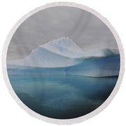 Translucent Blue Iceberg Reflection Round Beach Towel