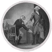 Treason Of Benedict Arnold, 1780 Round Beach Towel by Photo Researchers