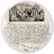 Treaty Between William Penn Round Beach Towel