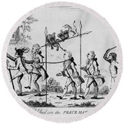 Treaty Of Paris, 1783 Round Beach Towel