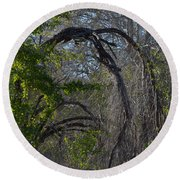 Tree Abstract  Round Beach Towel