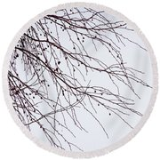 Tree Branch Nature Abstract Round Beach Towel