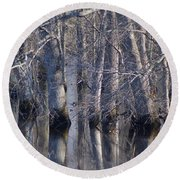Tree Reflection Abstract Round Beach Towel