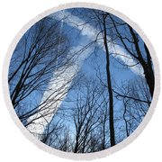 Trees And Trails Round Beach Towel