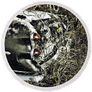 Trees And Trunk Round Beach Towel