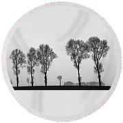 Trees Round Beach Towel