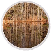 Trees In The Comfort Of Trees Round Beach Towel