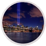 Tribute In Light II Round Beach Towel