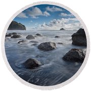 Trinidad Afternoon Round Beach Towel