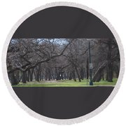 Trinity Park Ft Worth Tx Round Beach Towel