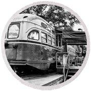 Trolley Car Diner - Philadelphia Round Beach Towel
