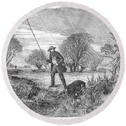 Trolling For Jack, 1850 Round Beach Towel
