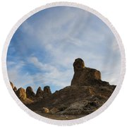 Trona Pinnacles 2 Round Beach Towel