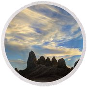 Trona Pinnacles Windswept Round Beach Towel
