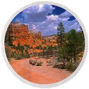 Tropic Canyon In Bryce Canyon Park Round Beach Towel