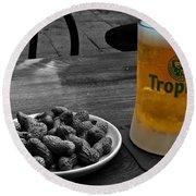 Tropical Beer Round Beach Towel
