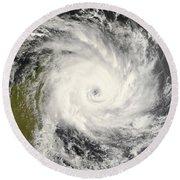 Tropical Cyclone Ivan Over Madagascar Round Beach Towel