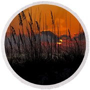 Tropical Evening Round Beach Towel