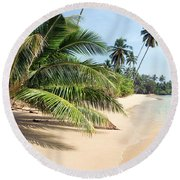 Tropical Island Round Beach Towel