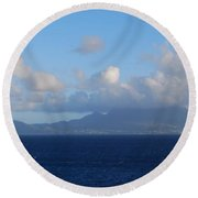 Tropical Mist Round Beach Towel