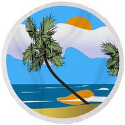 Tropical Outlook Round Beach Towel