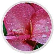 Tropical Rose Round Beach Towel by Susan Herber
