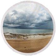 Tropical Seasonal Monsoon Rain Round Beach Towel