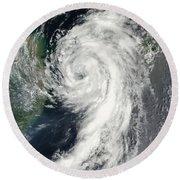 Tropical Storm Dianmu Round Beach Towel