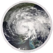 Tropical Storm Fay Round Beach Towel