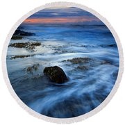Tropical Sunrise Swirl Round Beach Towel