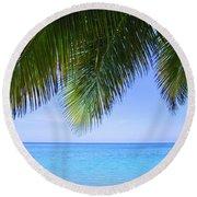 Tropical View Round Beach Towel