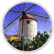 Tropical Windmill Round Beach Towel