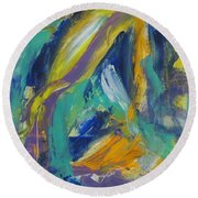 Tropicana 2 Round Beach Towel by Anita Burgermeister