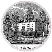Troy Female Seminary, 1841 Round Beach Towel