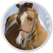 Trusted Steed Round Beach Towel