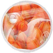 Tulip Car Abstract Round Beach Towel