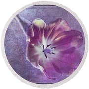 Tulip Fancy Round Beach Towel