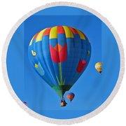 Tulip Hot Air Balloon Round Beach Towel