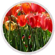 Tulip Uprising Round Beach Towel