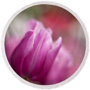 Tulips Impression Round Beach Towel