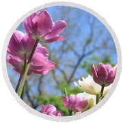 Tulips In The Sun Round Beach Towel