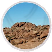 Tumbling Rocks Of Gold Butte Round Beach Towel