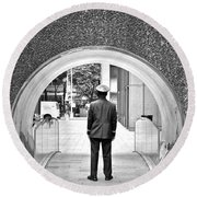 Tunnel Man Round Beach Towel