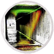 Tunnel Of Colour Round Beach Towel