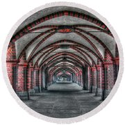 Tunnel With Arches Round Beach Towel