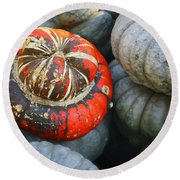 Turban Pumpkin Round Beach Towel