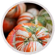 Turban Squash Round Beach Towel